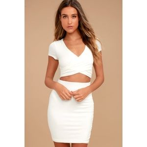 Lulu's Ivory 2-piece Dress
